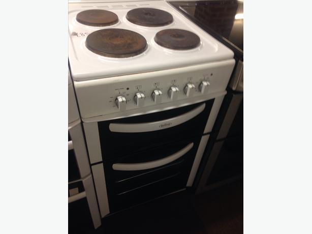 BELLING ELECTRIC COOKER PLATED TOP 50CM DOUBLE OVEN