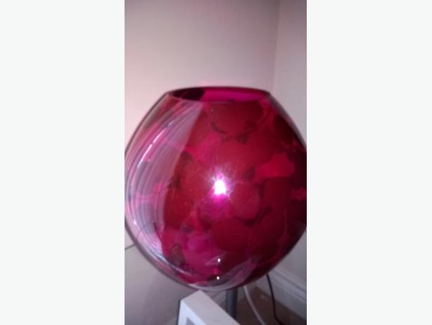 purple glass decorative lamp's