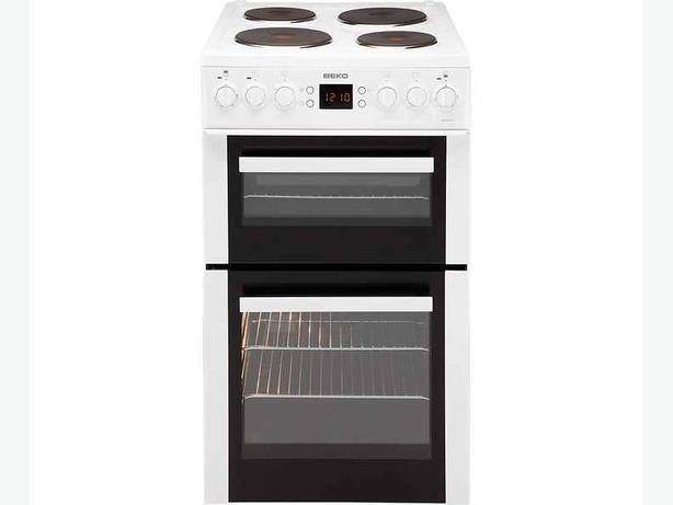 Beko BDV555AW Double Electric Cooker - White.