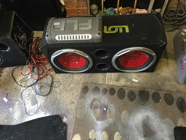 Subs amps wires boxes