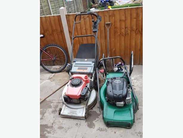 x2 self drive lawnmowers