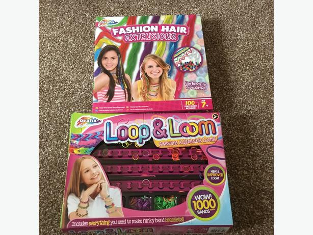 fashion hair extensions and loom band set