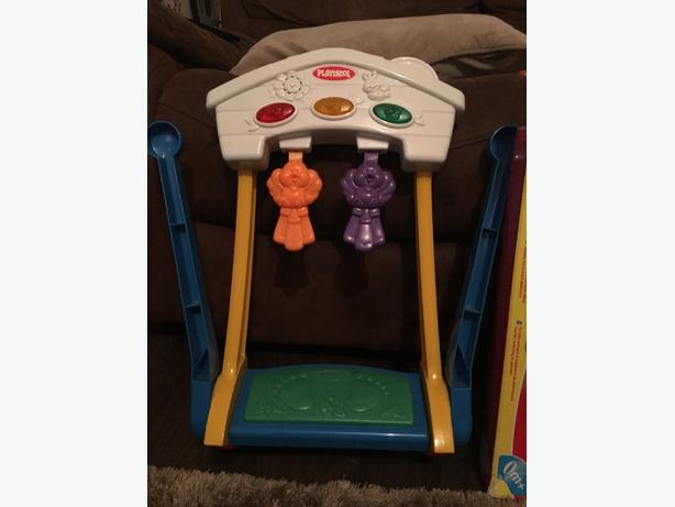 playskool fold n go kick start gym