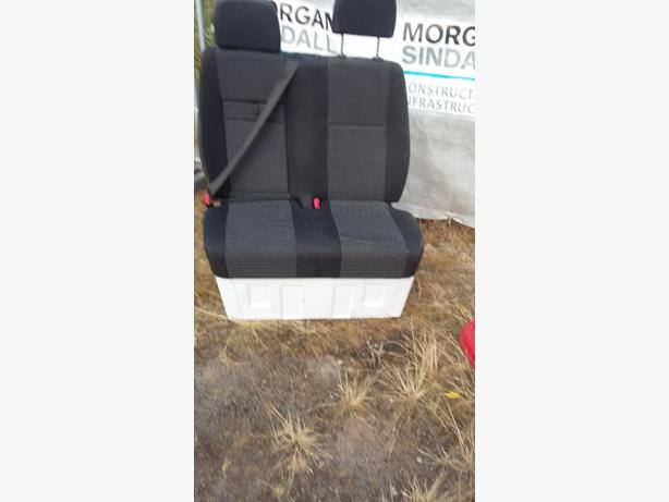 double rear van seat