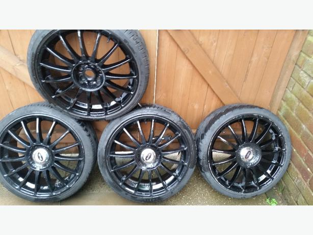 "team dynamic monza R 18"" alloy wheels 4 stud multifit"