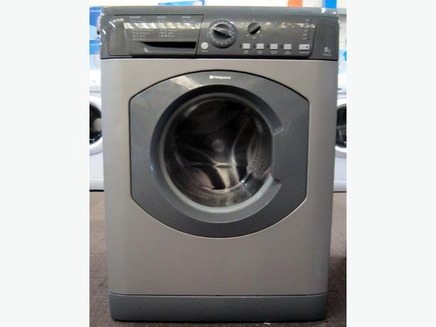 Hotpoint Large Capacity 8kg Silver / Graphite Washing Machine, 6 Month Warranty