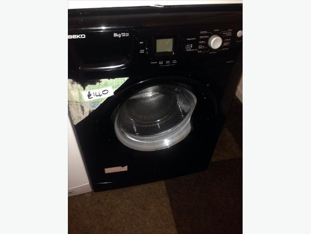 BLACK BEKO WASHING MACHINE 8KG