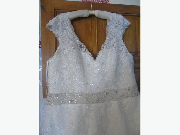 mori lee ivory wedding dress size 24 new with label