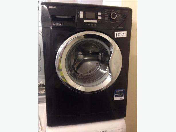 9KG BLACK BEKO WASHING MACHINE.