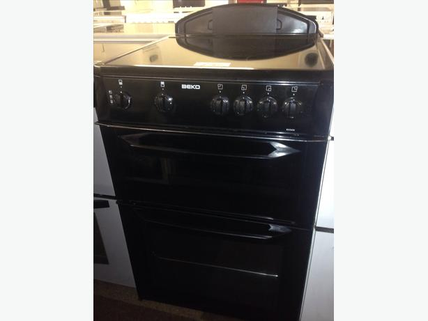 BLACK BEKO 60CM CERAMIC TOP ELECTRIC COOKER