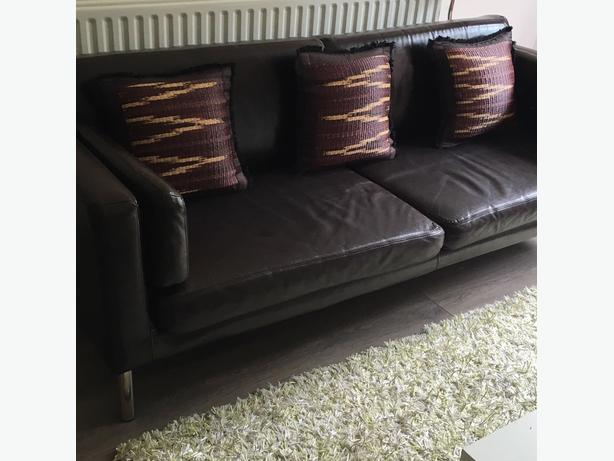 Ikea 3 Seater Faux Leather Sofa