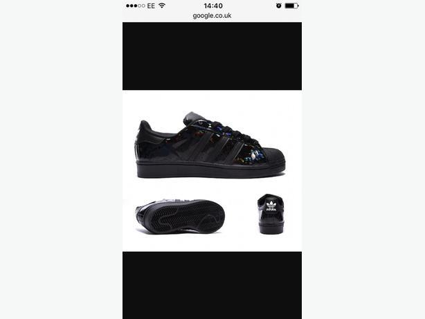 All black sparkle adidas superstar