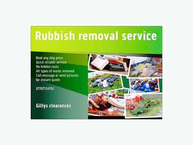 all rubbish removed