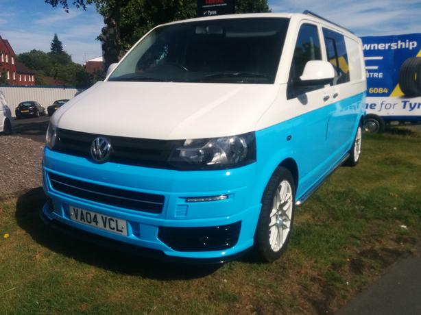 For Sale: Volkswagen Transporter T5 Van White and Blue 2004 LWB
