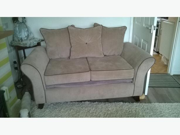 Mink Cord 2 Seater settee and 1 Chair