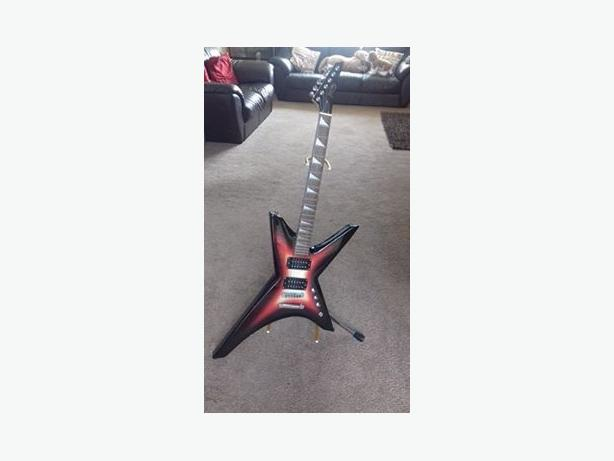 Electric Guitar with stand