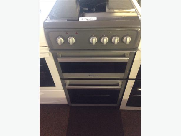 HOTPOINT ELECTRIC COOKER GREY 50CM..