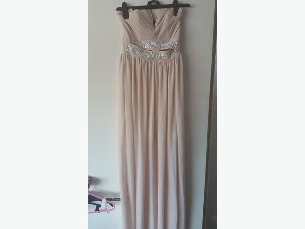 tfnc lipsy nude embellished maxi dress