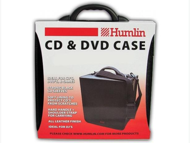 BLACK PVC/Leather 400 Disc DVD/CD DJ Carry Case - Humlin