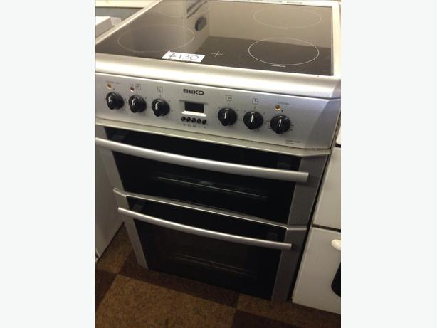 BEKO DOUBLE OVEN FAN ASSISTED ELECTRIC COOKER 60CM