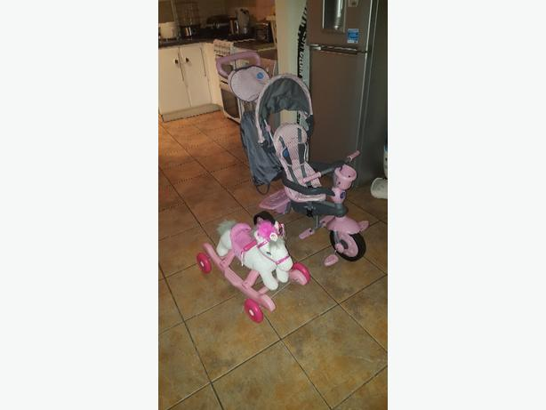 trike and rocking horse