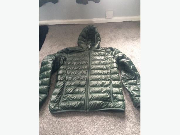 db1159ddf mens ea7 bubble coat WALSALL