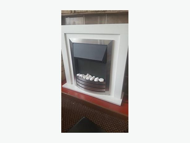 Freestanding Fire in surround
