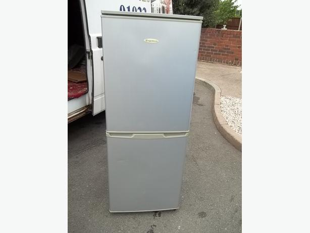 FRIDGE FREEZER SILVER UPRIGHT - MAY DELIVER LOCAL