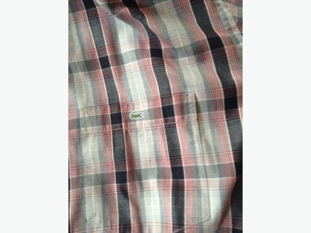 Lacoste shirt size large long sleeve
