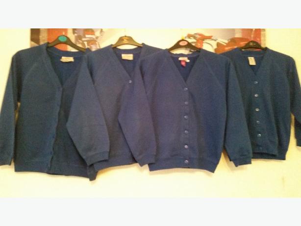 royal blue school cardigans