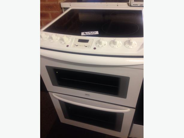 ZANUSSI 60CM CERAMIC TOP ELECTRIC COOKER DOUBLE OVEN