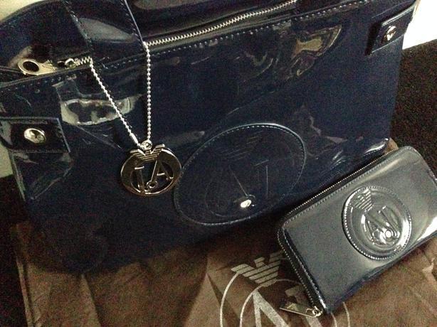 ARMANI JEANS Patent Bag AJ (Louis vuitton speedy 30 )