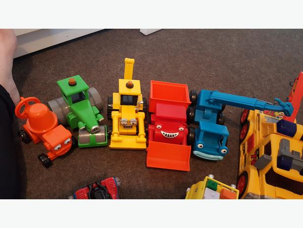 Mixture of toys . Toy story fireman sam cars bob the bulider