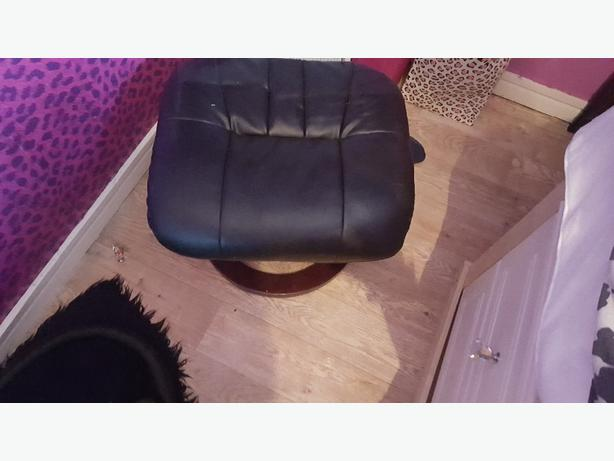 leather stool/ foot rest