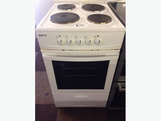 BEKO PLATED TOP ELECTRIC COOKER 50CM...