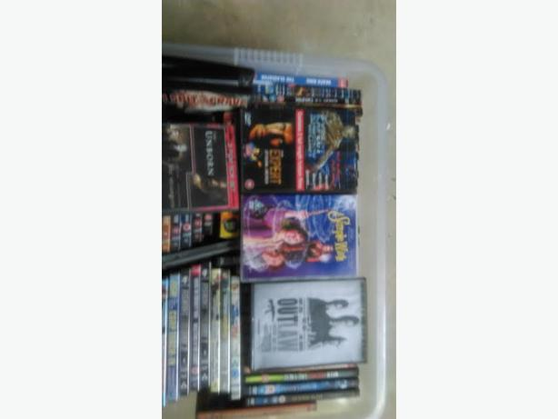 Dvds various in tote ideal car boot includes tote £10