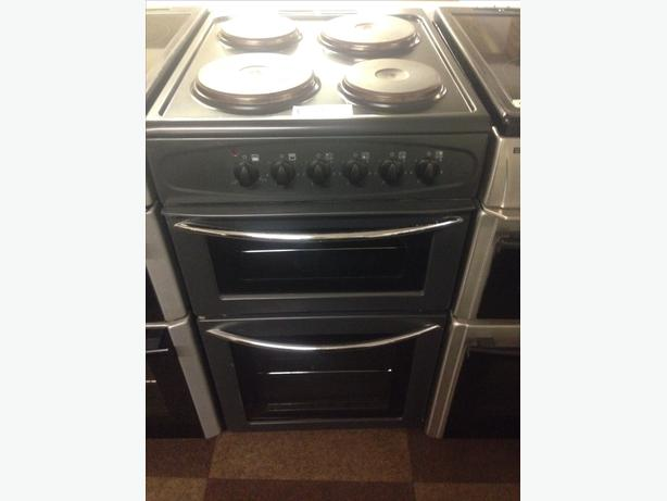 BELLING ELECTRIC COOKER 50CM PLATED TOP BLACK1