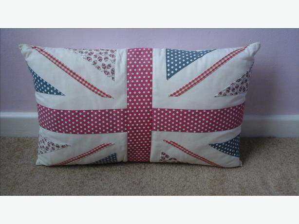 Shabby chic style union jack cushion
