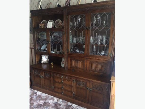 Old Charm medium oak wall unit