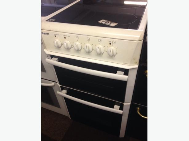 BEKO DOUBLE OVEN FAN ASSISTED ELECTRIC COOKER CERAMIC TOP2