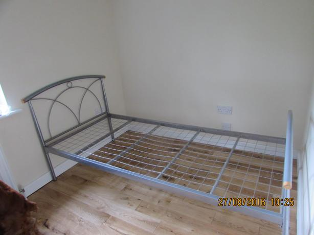 Free - Single Metal Frame Bed & Mattress