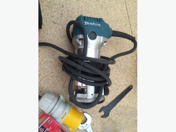 makita trimmer with various cutters