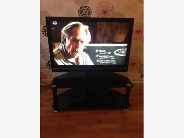 LG tv with glass stand