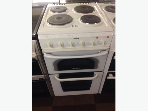 PLATED TOP HOTPOINT ELECTRIC COOKER 50CM FAN ASSISTED5