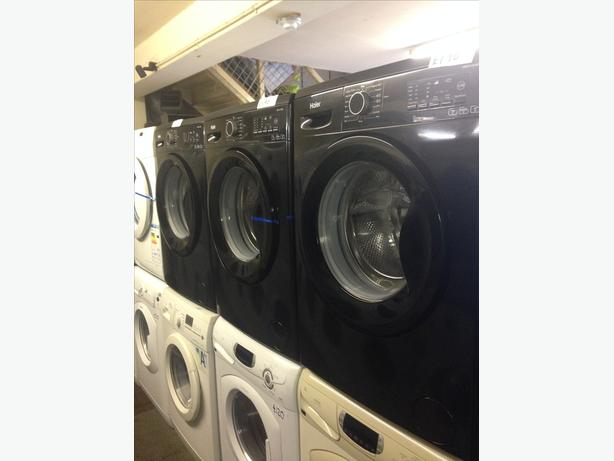 GREAT VALUE NEW BLACK WASHING MACHINES WITH GUARANTEE