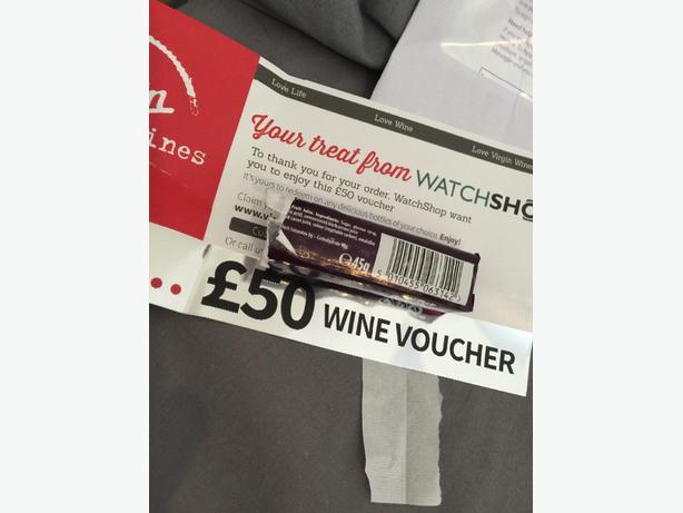 Wine worth £50 voucher virgin wine!!bargainnn