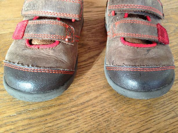 Brown Clarks shoes