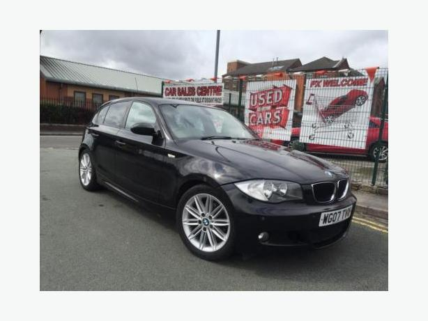 BMW 1 SERIES 120D M SPORT 2.0TD 2007 BLACK + HPI CLEAR + CREAM LEATHER +PX WELC