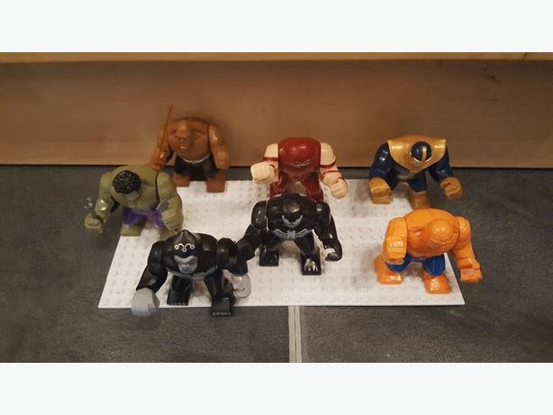 various lego figures