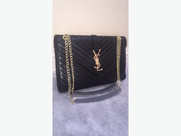 YSL Saint Laurent Black Large Monogram Chain Bag Gucci Louis vuitton prada
